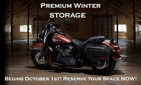 WINTER STORAGE OCTOBER 1st 2020 thru April 1st 2021
