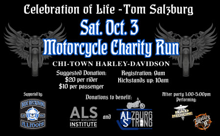Celebration Of Life-Tom Salzburg- Motorcycle Charity Run