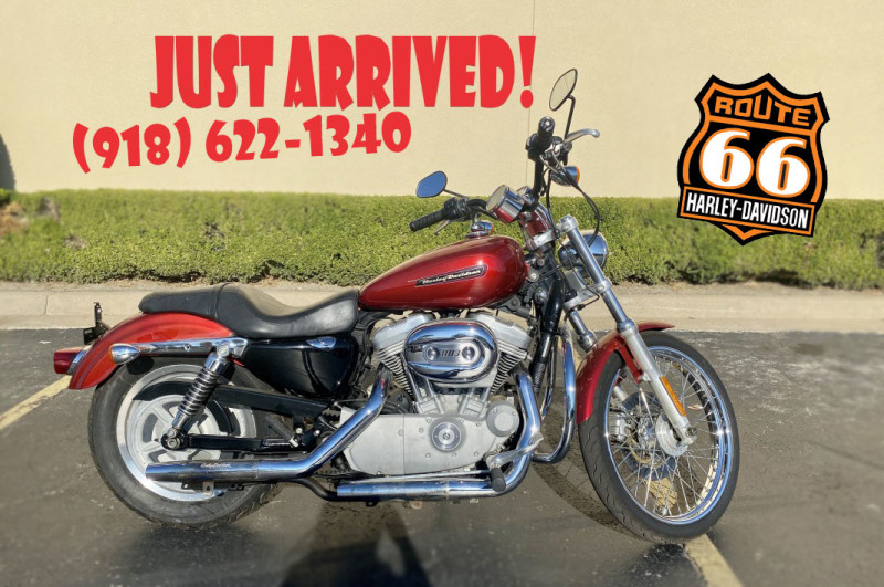 Candy Red Sunglo 2008 Harley-Davidson® Sportster® 883 Custom XL883C