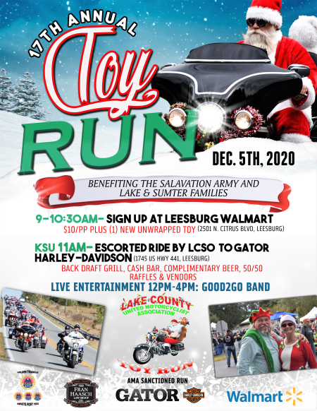 LCUMA 17th Annual Toy Run