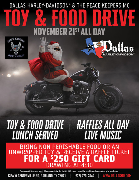 Toy and Food Drive with The PEACE KEEPER MC!