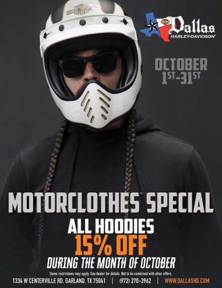 October Motorclothes Special