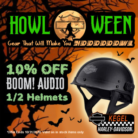 10% Off Boom! Audio Half Helmets