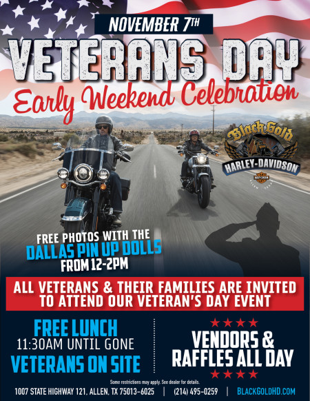 Veterans Day at Black Gold H-D!