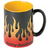 Krūze H-D Sculpted Flames Mug