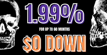 1.99% interest rates for up to 60 months with $0 down