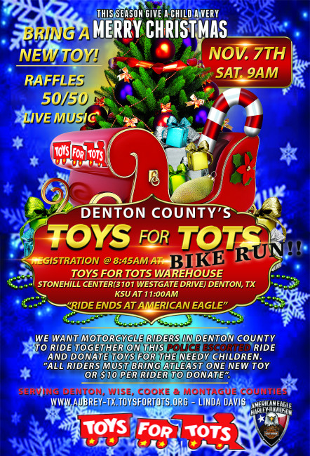 Police Escorted - 2020 Denton County Toys for Tots Toy Run