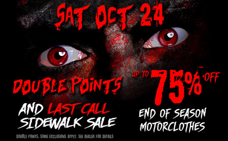 Double Points & Last Call Sidewalk Sale!