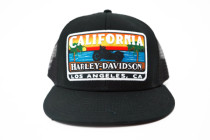 California Harley-Davidson Sunset Color Logo Flatbill Cap