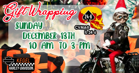 Gift Wrapping by Combat Veterans Motorcycle Association (CVMA) - IL 24-6 Blackhawk Valley Warriors