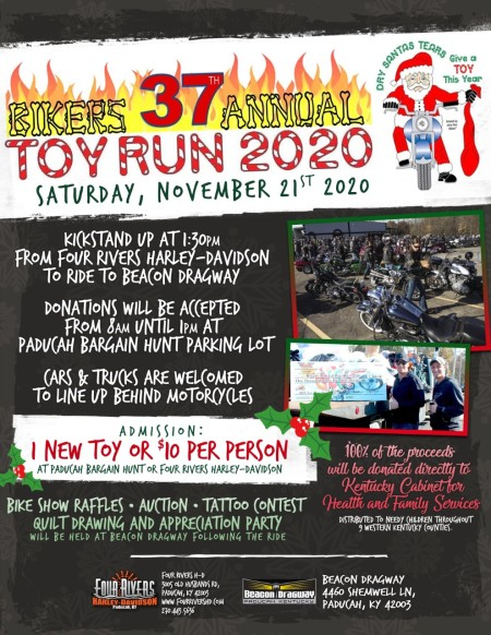 BIKERS 37TH ANNUAL ANNIVERSARY TOY RUN 2020
