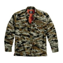 SHIRT JACKET QUILTED CAMO