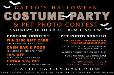 Costume Party & Pet Photo Contest