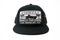 California Harley-Davidson Sunset Black & White Logo Flatbill Cap