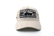 California Harley-Davidson Sunset Tan & Black Logo Baseball Cap