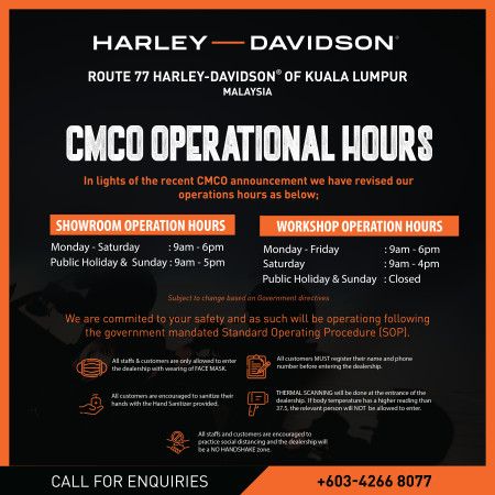 CMCO Operation Hours