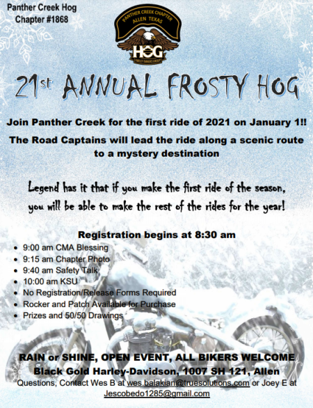 21st Annual Frosty HOG