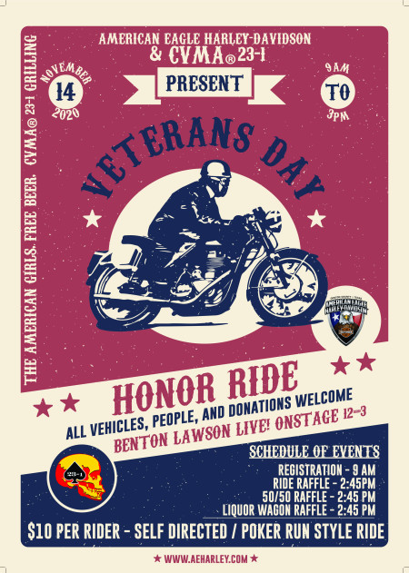 2nd Annual Veterans Honor Ride Presented By CVMA Texas Chapter 23-1