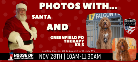 Photos with Santa! And GPD Therapy K9s