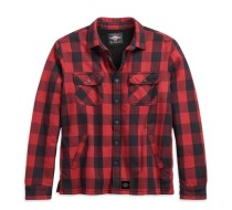 SHIRT JACKET-WOVEN, RED PLAID