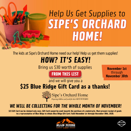 Sipe's Supply Drive