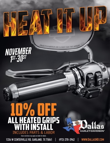 Heat It Up - Heated Grips Promotion!