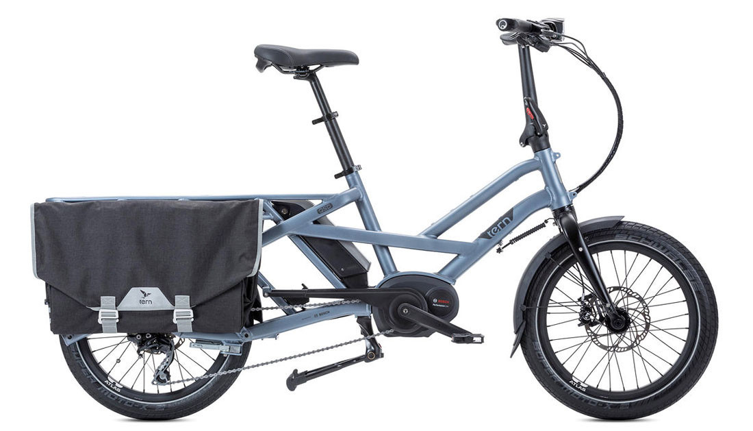Tern GSD S10 silver-blue Bosch 400Wh