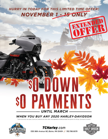 Zero Down and No payments until next year!