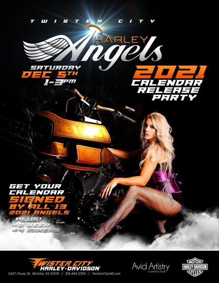 Harley Davidson Calendar 2021 Harley Angel 2021 Calendar Release Party | Twister City Harley