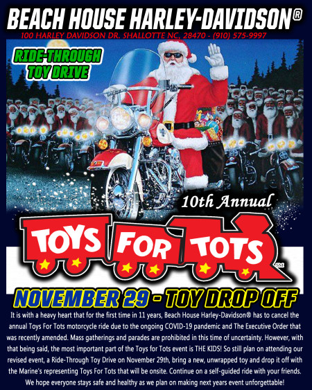 10TH ANNUAL TOYS FOR TOTS RIDE