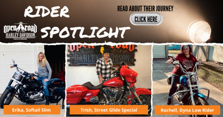 Triple Charge Ladies Rider Spotlight: Erika, Trish and Rochelle
