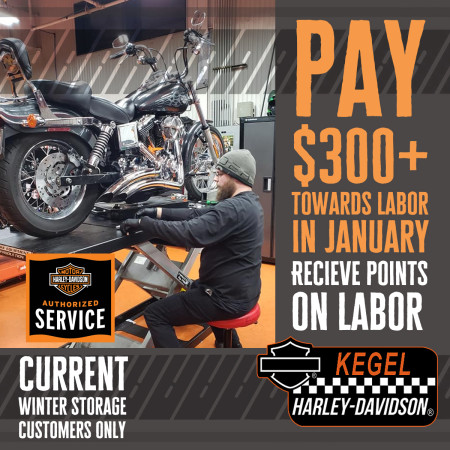 Earn Rider Reward Points on Labor in January