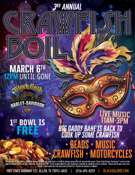 Mardi Gras Motor Madness Craw-fish Boil is back