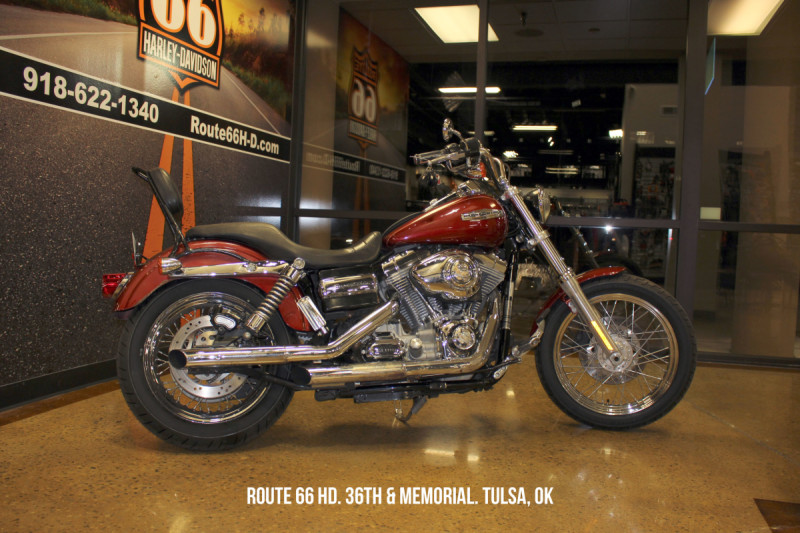 Red Hot Sunglo 2009 Harley-Davidson® Super Glide® Custom FXDC