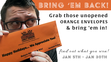 No Peeking Orange Envelope Promo