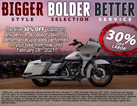 Appalachian Harley-Davidson® Winter Service Specials 2021