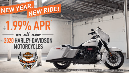 Special Finance Offer on Remaining New 2020 H-D Models