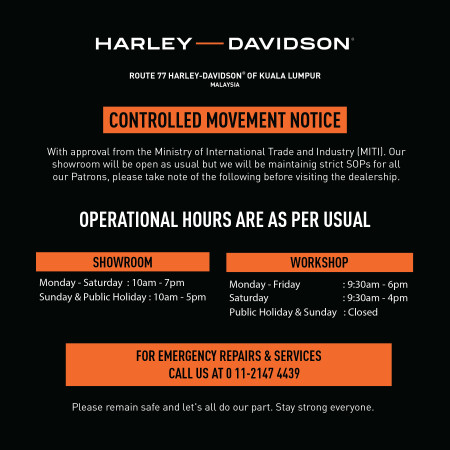 MCO Operation Hours & SOPs