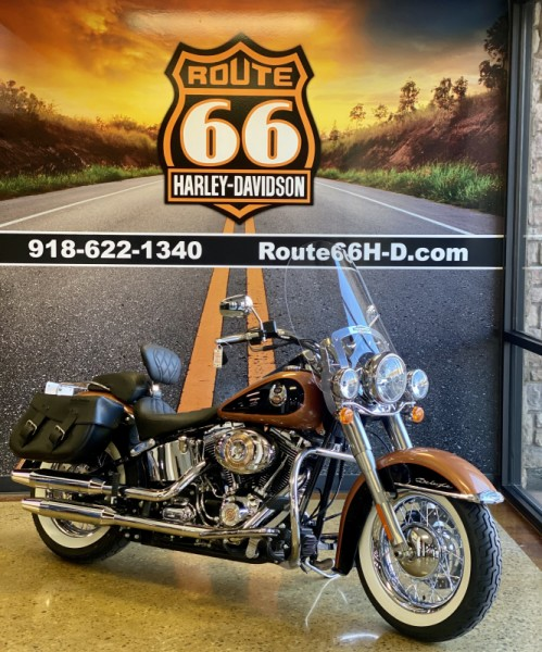 105th Anniversary Copper Pearl/Black 2008 Harley-Davidson® Softail® Deluxe FLSTN