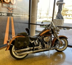 105th Anniversary Copper Pearl/Black 2008 Harley-Davidson® Softail® Deluxe FLSTN thumb 0