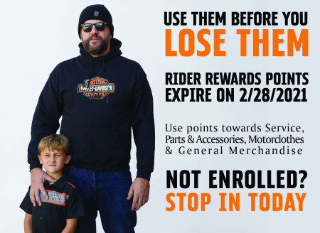 Rider Rewards Expire March 1