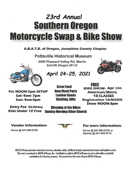 23rd Annual Southern Oregon Motorcycle Swap  and Bike Show