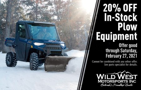 Wild West Motorsports – Get 20% OFF Plow Equipment