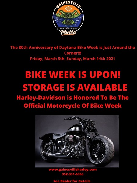 Bike Week 2021 Trailer Storage is Available Share the Word!