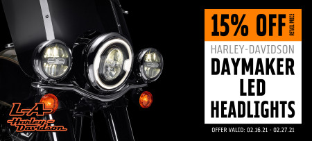 15% Off H-D Daymaker LED Headlights
