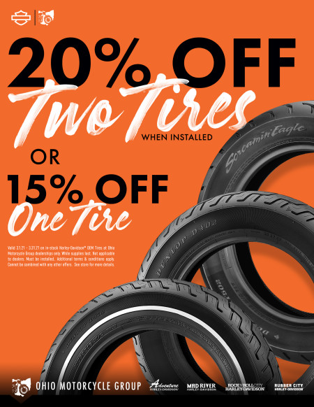 20% Off Two Tires / 15% Off One Tire