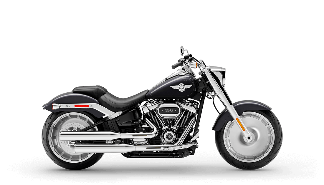 2021 Harley Davidson Softail Fat Boy FLFBS 114 - Black Jack Metallic