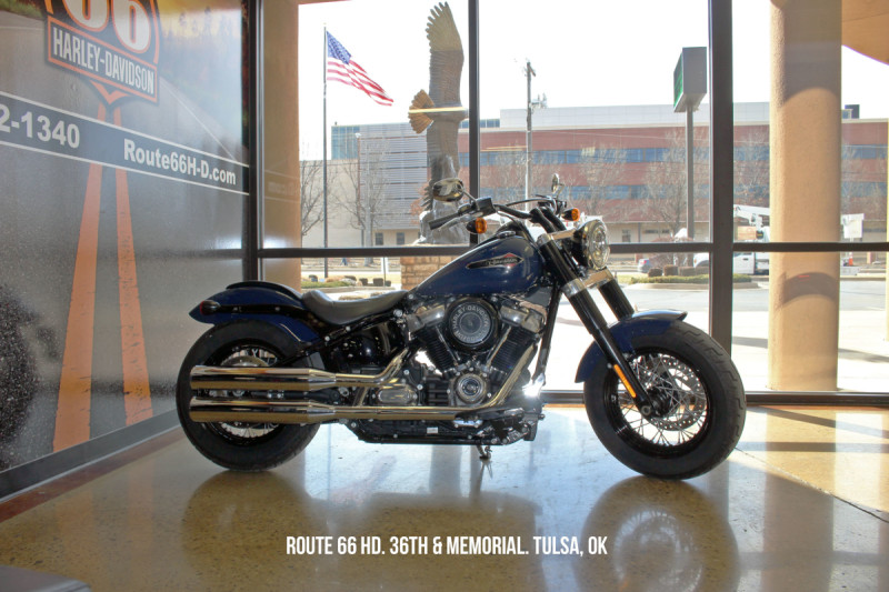 Billiard Blue 2019 Harley-Davidson® Softail Slim® FLSL
