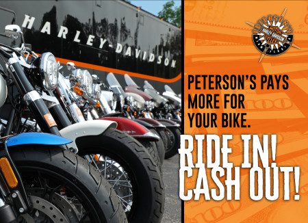 RIDE IN! CASH OUT NOW!