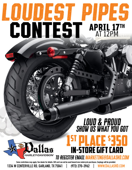 LOUDEST PIPES CONTEST